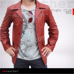 Jaket Kulit Fight Club [red]