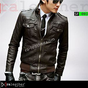 Jaket Kulit Slim Fit SF003