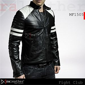 Jaket Kulit MF1505  Fight Club Black
